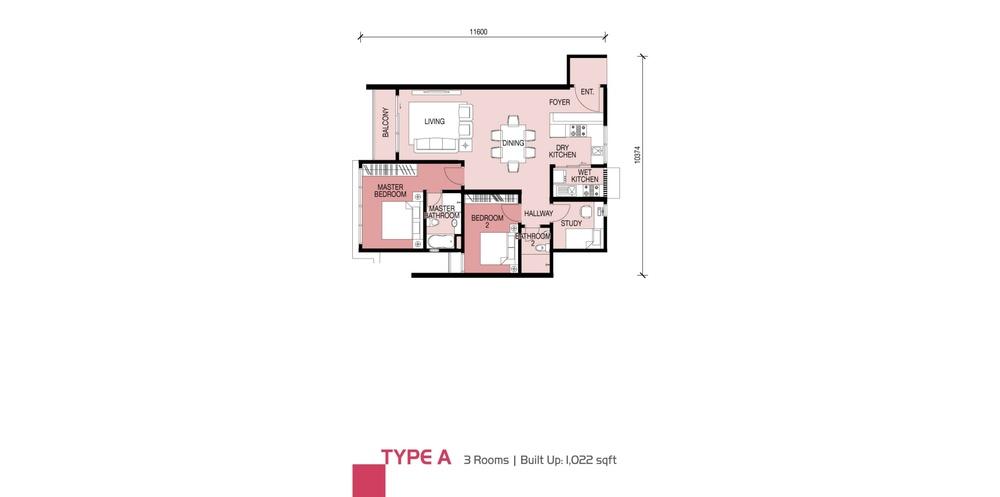 Glomac Damansara Type A Floor Plan