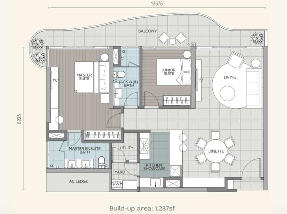 Datum Jelatek Daneeya Type B1 Floor Plan