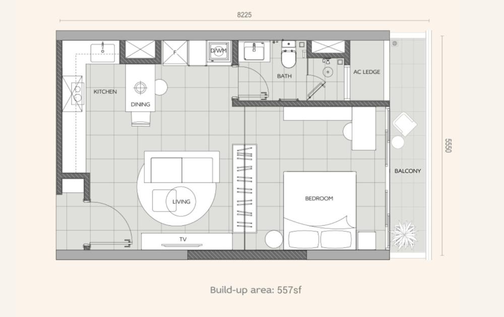 Datum Jelatek Ayaana Type S Floor Plan