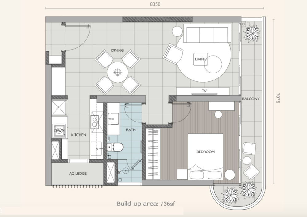 Datum Jelatek Ayaana Type A1 Floor Plan