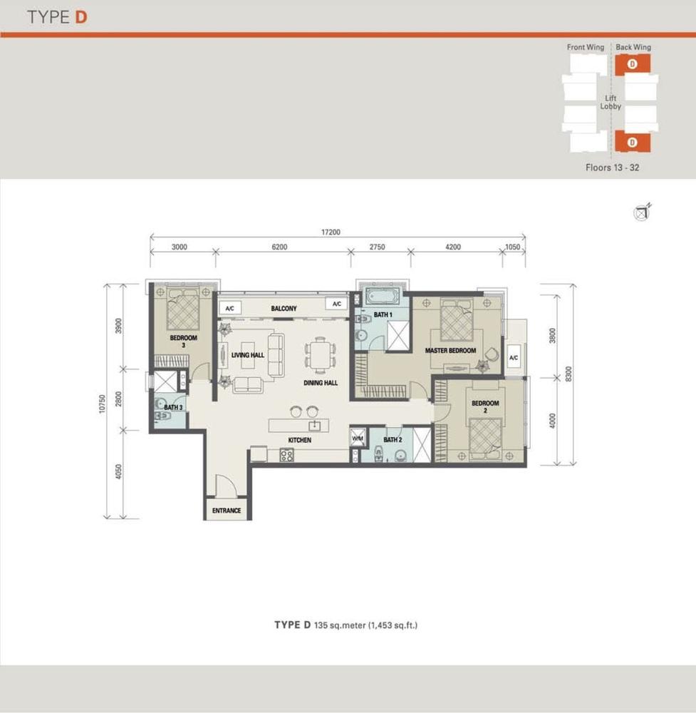 Suasana Bukit Ceylon Type D (Standard) Floor Plan