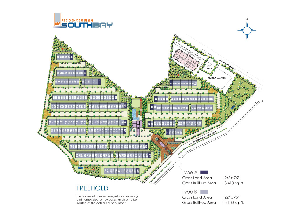 Site Plan of Residence @ Southbay