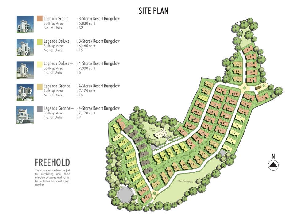 Site Plan of Legenda @ Southbay