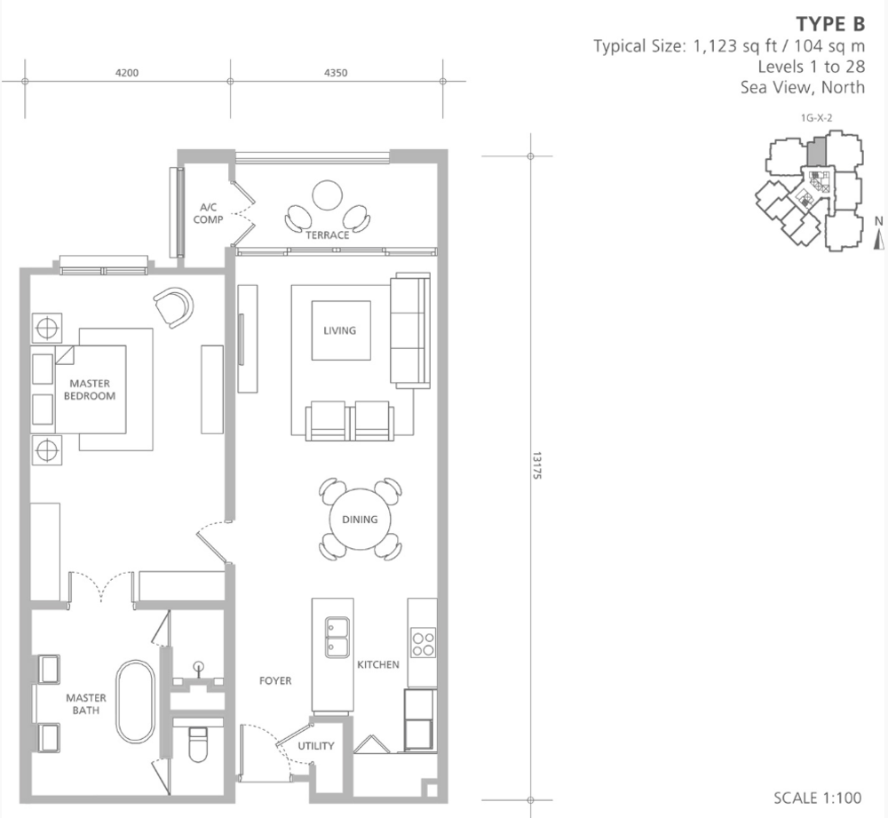 Quayside Andaman at Quayside Type B Floor Plan