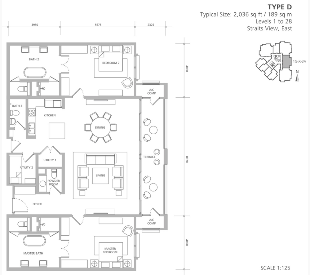 Quayside 18 East at Andaman Type D Floor Plan
