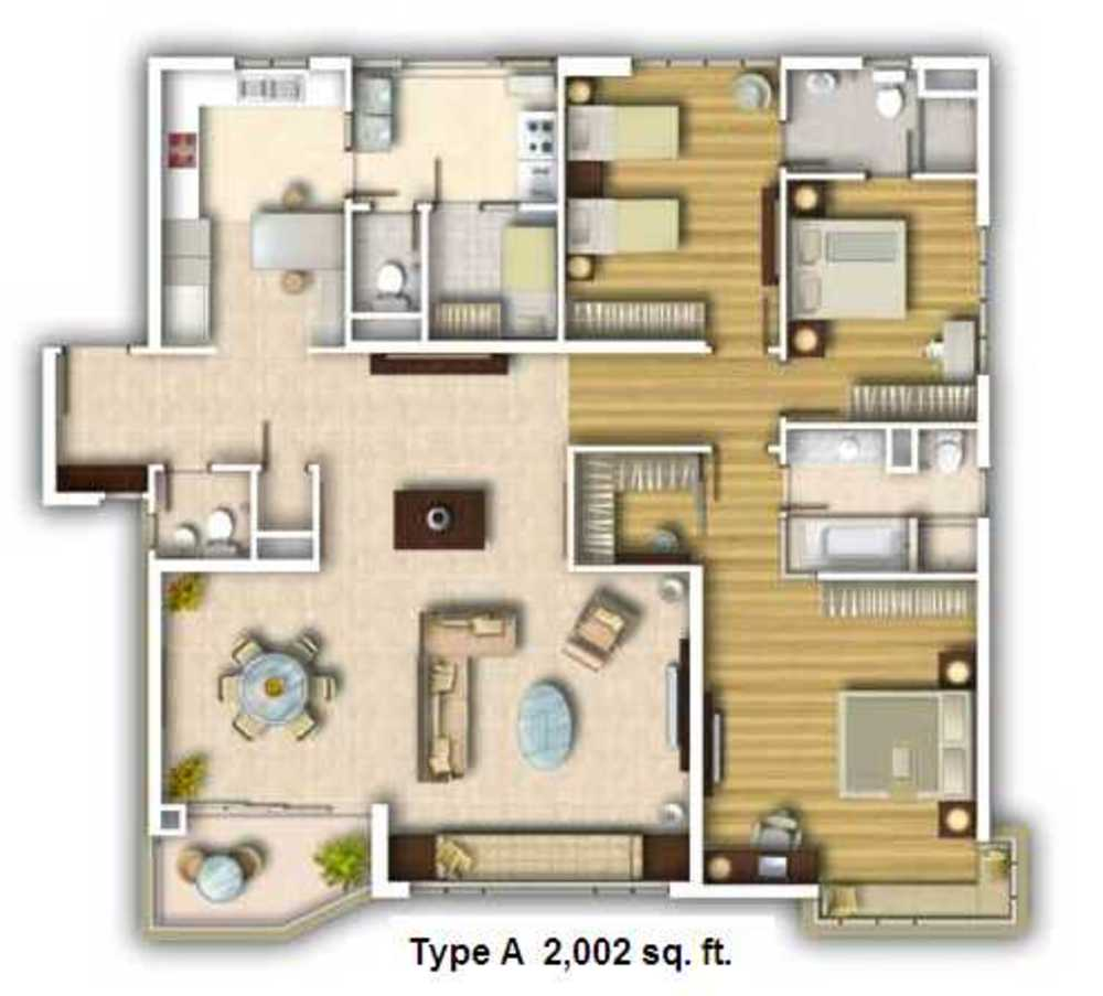 Kiaramas Ayuria Type A Floor Plan
