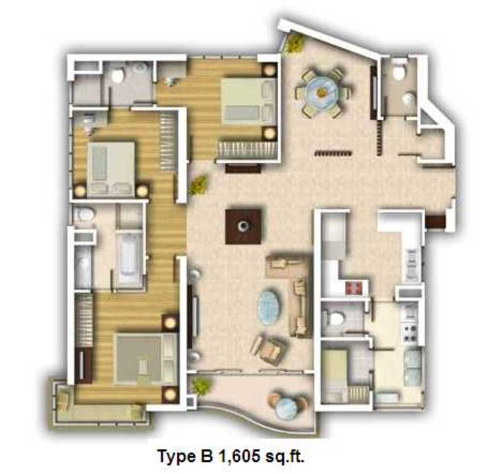 Kiaramas Ayuria Type B Floor Plan