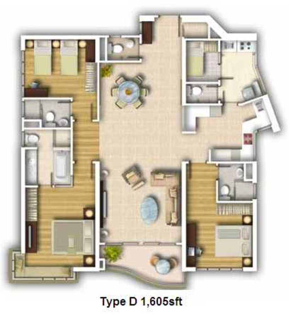 Kiaramas Ayuria Type D Floor Plan