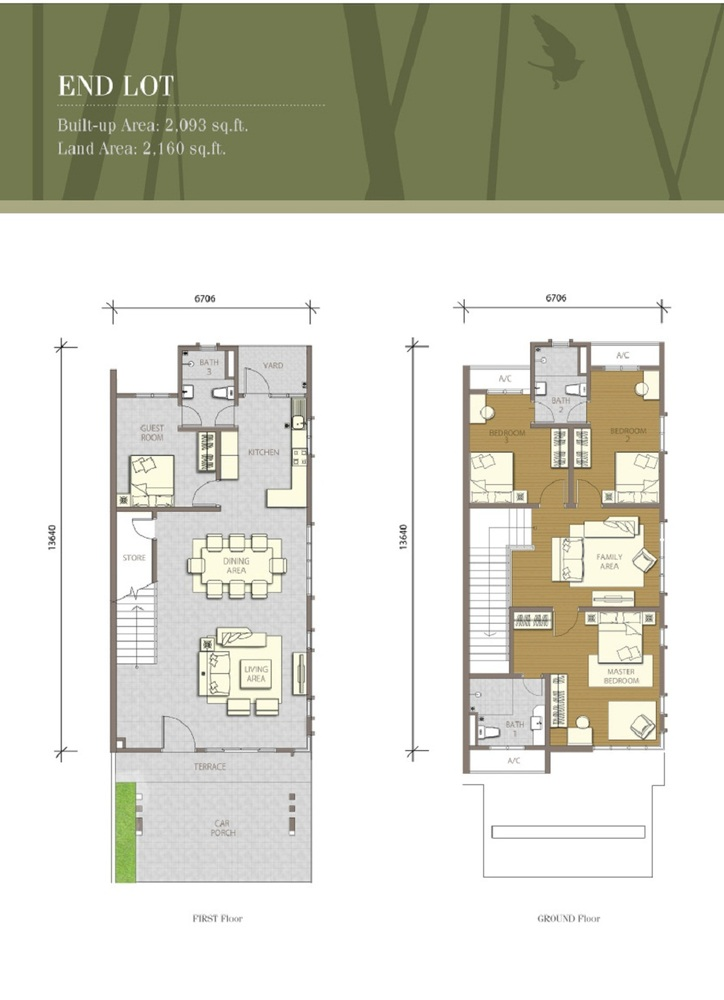 Bayuemas Gemilang - End Lot 1 Floor Plan