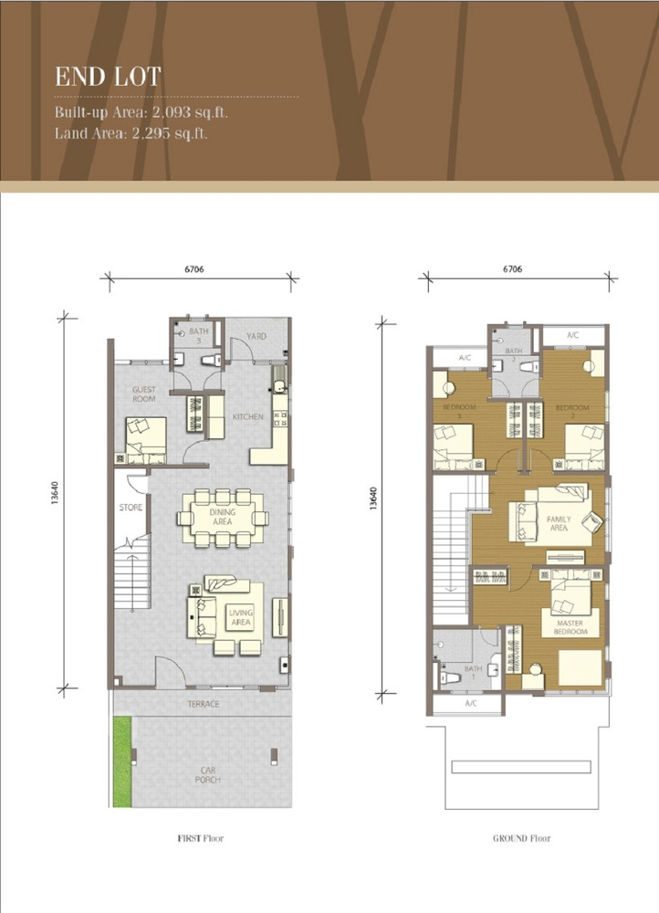 Bayuemas Gemilang - End Lot 2 Floor Plan
