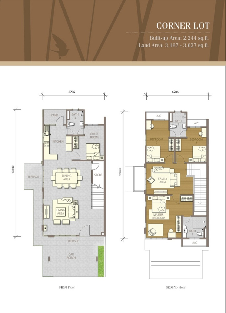 Bayuemas Gemilang - Corner Lot Floor Plan