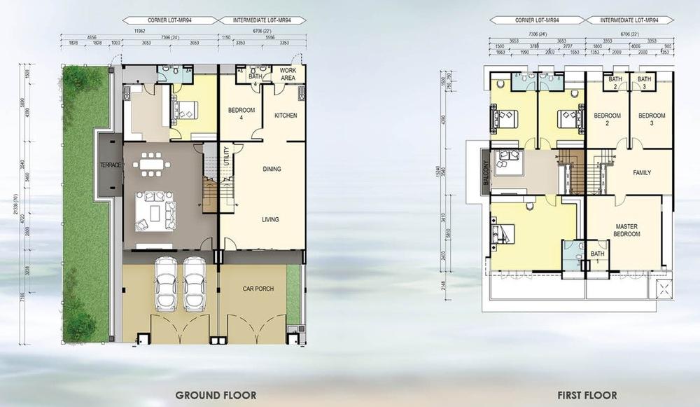 Taman Mutiara Rini IL2-MR-94 Floor Plan
