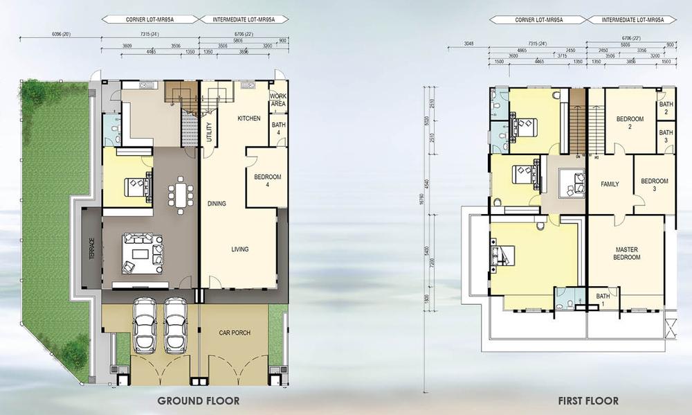 Taman Mutiara Rini IL2-MR-95A Floor Plan