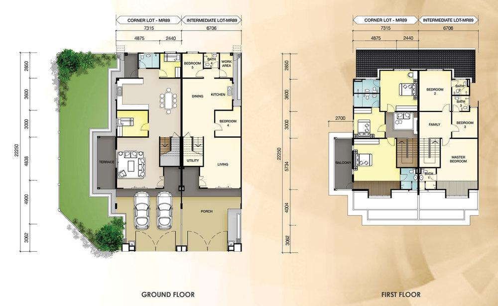 Taman Mutiara Rini 4D-MR-89 Floor Plan