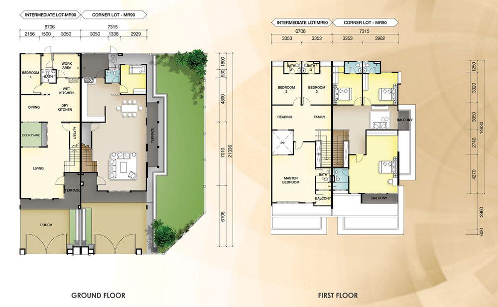 Taman Mutiara Rini 4D-MR-90 Floor Plan