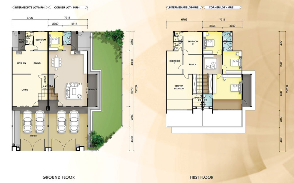 Taman Mutiara Rini 4D-MR-91 Floor Plan