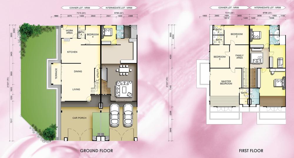 Taman Mutiara Rini 5A-MR-99 Floor Plan