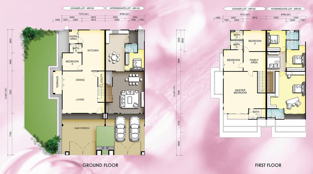 Taman Mutiara Rini 5A-MR-100 Floor Plan
