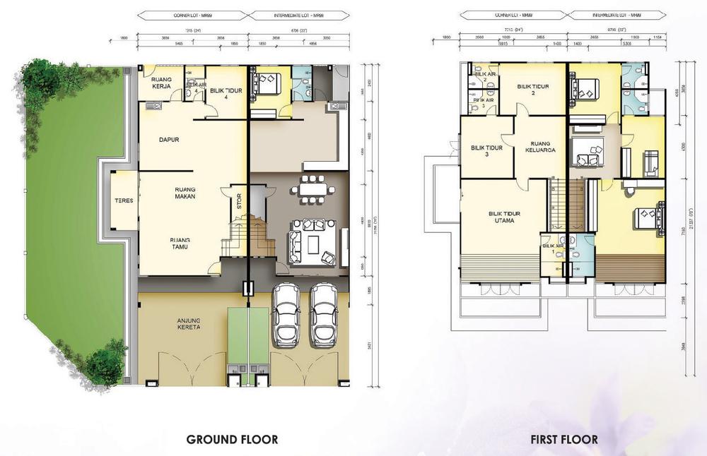 Taman Mutiara Rini 5C-MR-99 Floor Plan