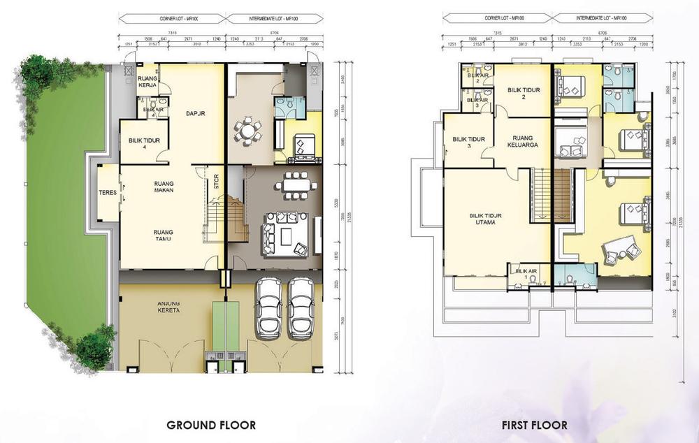 Taman Mutiara Rini 5C-MR-100 Floor Plan