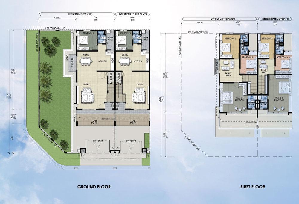 Taman Mutiara Rini 5D-MR-102 Floor Plan
