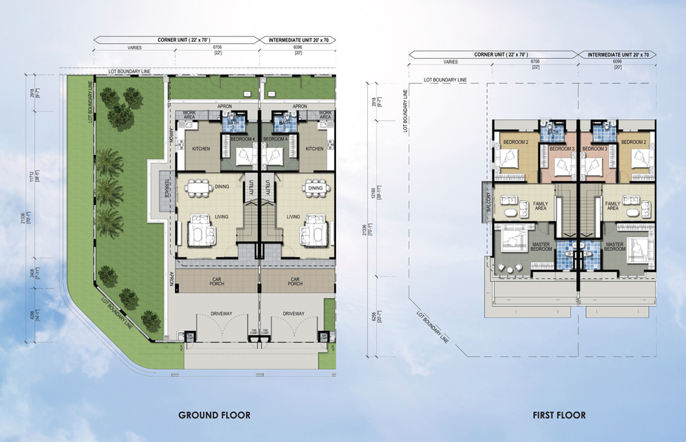 Taman Mutiara Rini 5D-MR-103 Floor Plan
