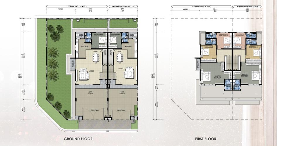 Taman Mutiara Rini 6A-MR-109 Floor Plan
