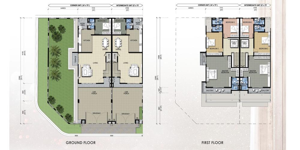 Taman Mutiara Rini 6B-MR-107 Floor Plan