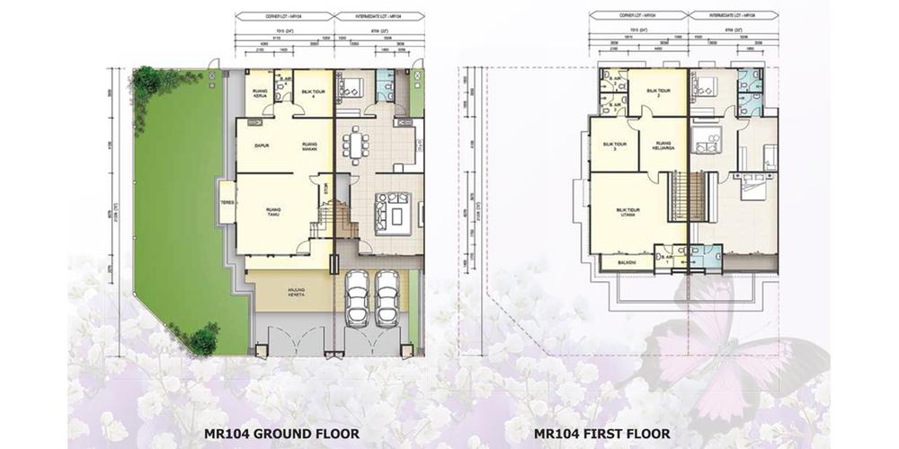 Taman Mutiara Rini 6G-MR-104 Floor Plan
