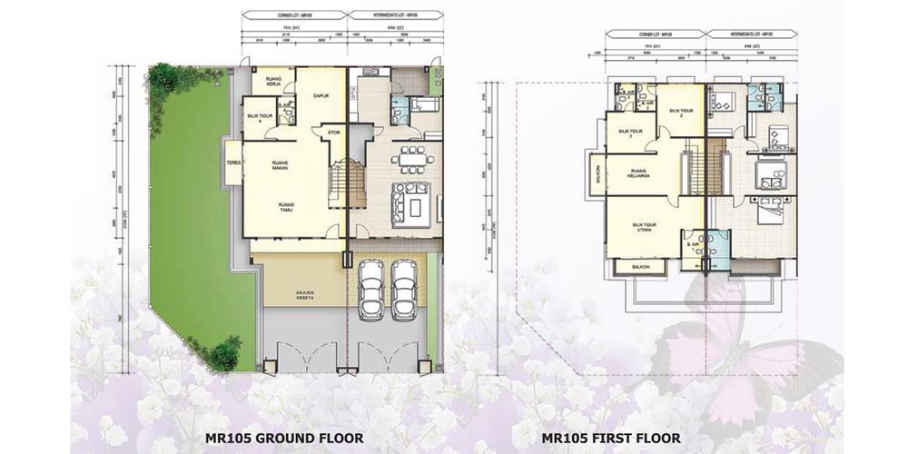 Taman Mutiara Rini 6G-MR-105 Floor Plan