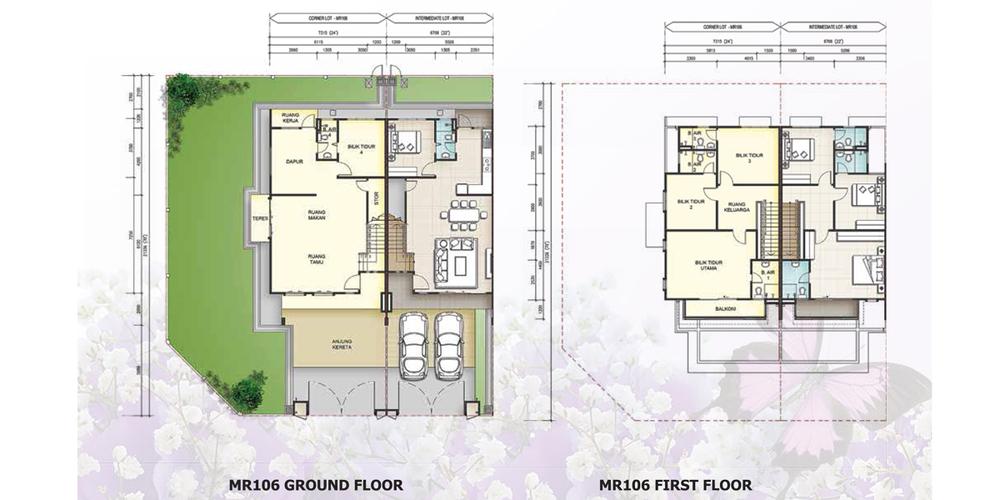 Taman Mutiara Rini 6G-MR-106 Floor Plan