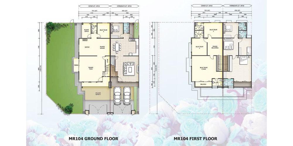 Taman Mutiara Rini 6H-MR-104 Floor Plan