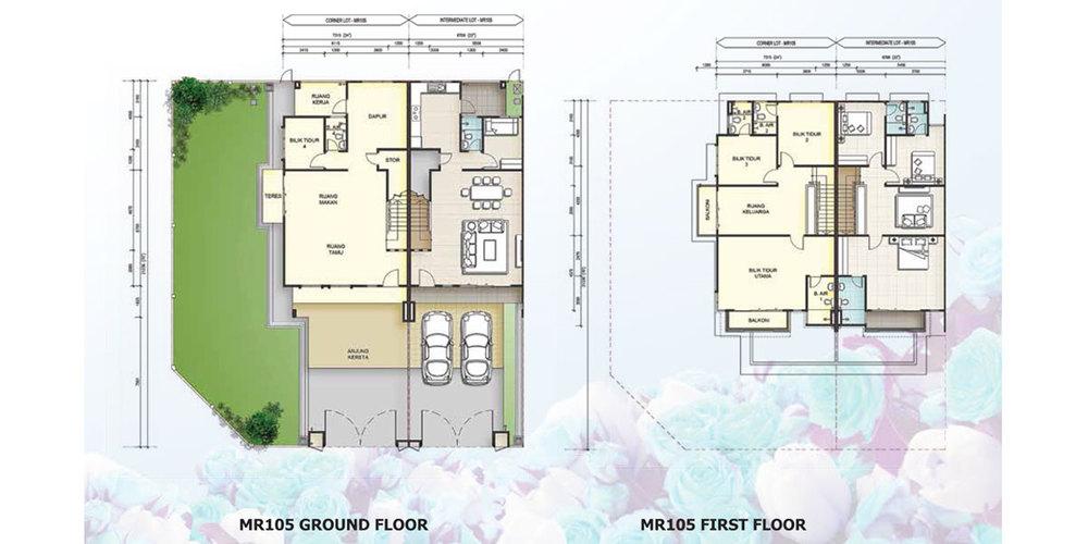 Taman Mutiara Rini 6H-MR-105 Floor Plan