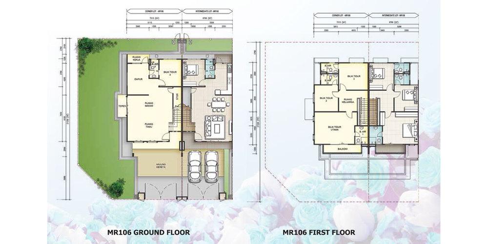Taman Mutiara Rini 6H-MR-106 Floor Plan