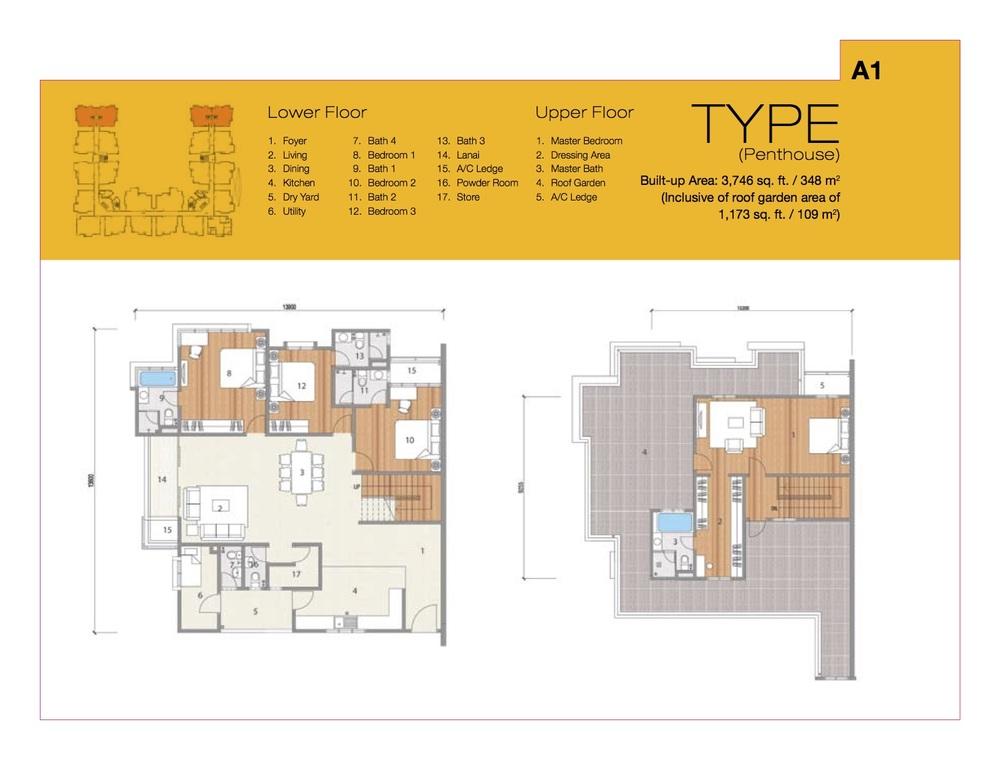 8 Petaling Type A1 Floor Plan
