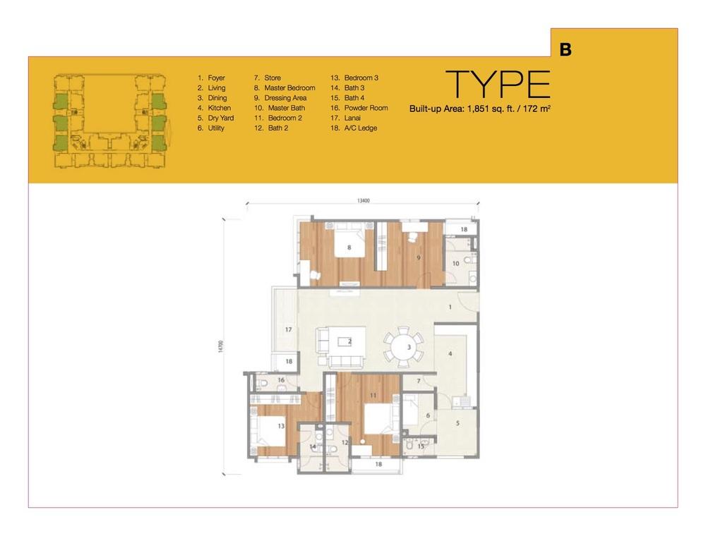 8 Petaling Type B Floor Plan
