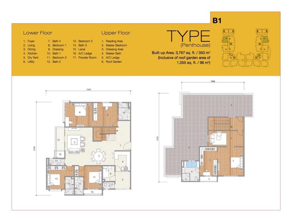 8 Petaling Type B1 Floor Plan