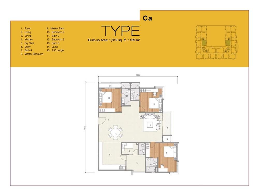 8 Petaling Type Ca Floor Plan