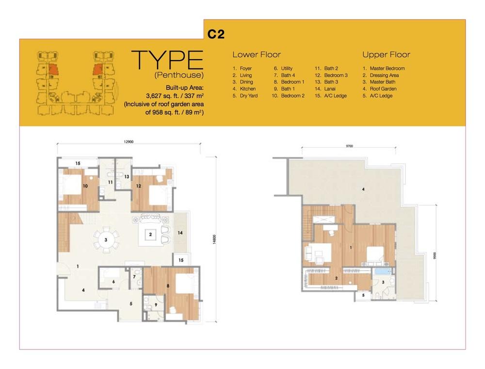 8 Petaling Type C2 Floor Plan