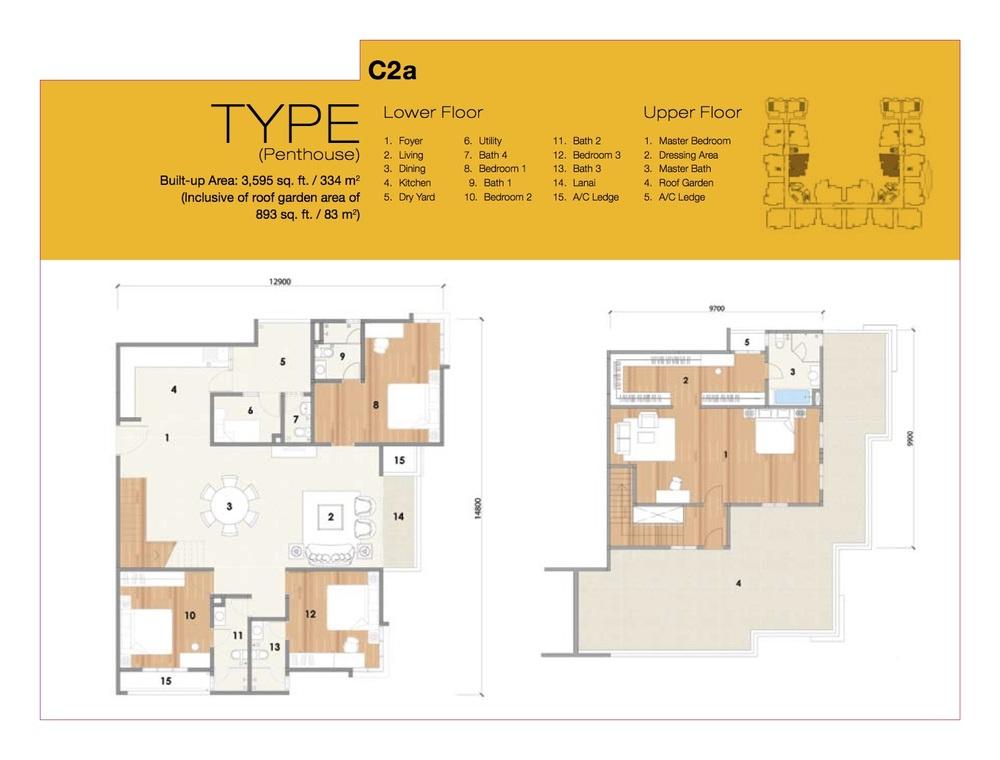 8 Petaling Type C2a Floor Plan