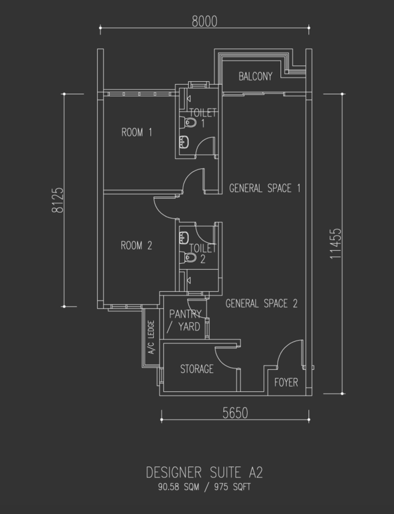 Univ 360 Place Designer Suite A2 Floor Plan