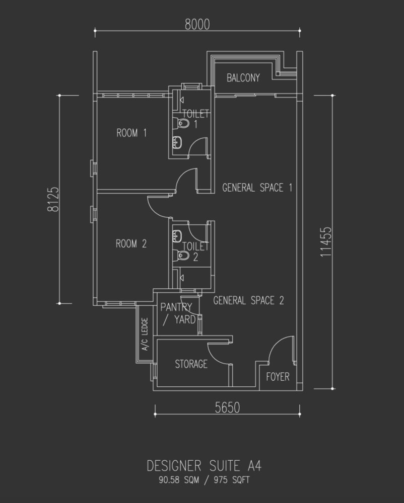 Univ 360 Place Designer Suite A4 Floor Plan