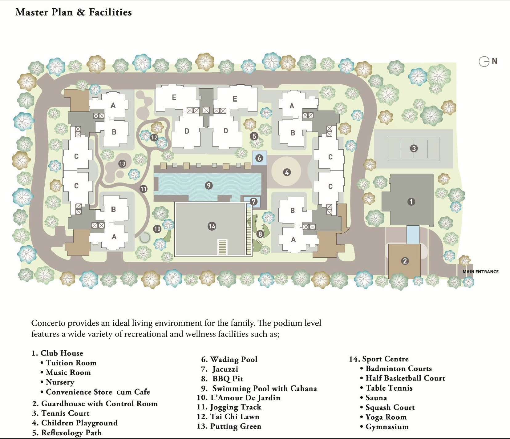 Site Plan of Concerto Kiara