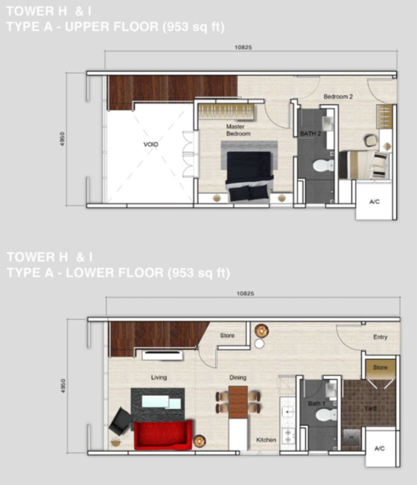 Mutiara Ville Tower H & I - Type A Floor Plan