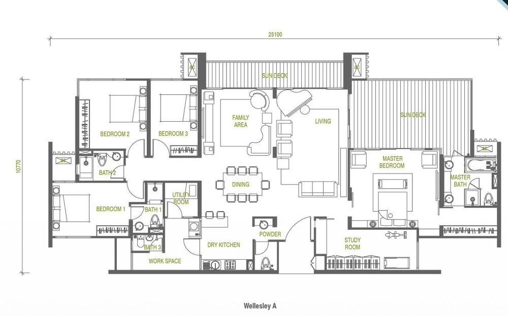 Wellesley Residences Penthouse E Floor Plan