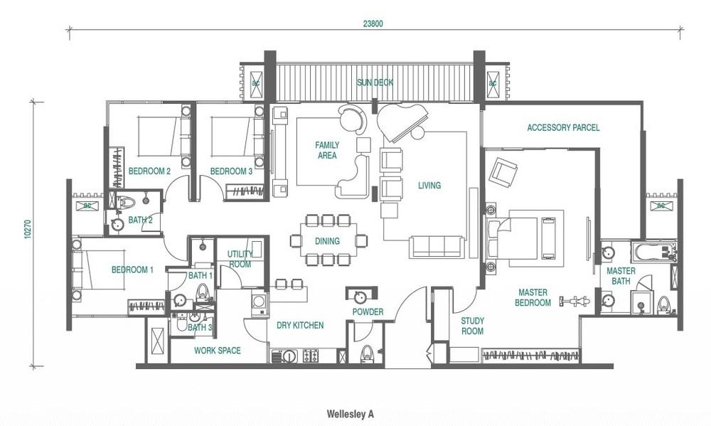 Wellesley Residences Penthouse F Floor Plan