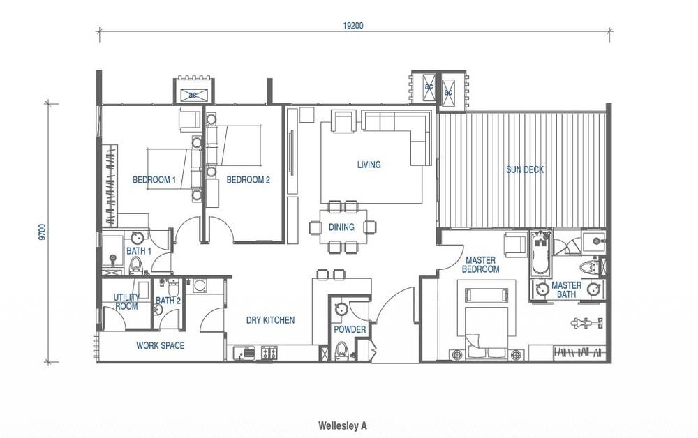Wellesley Residences Penthouse G Floor Plan