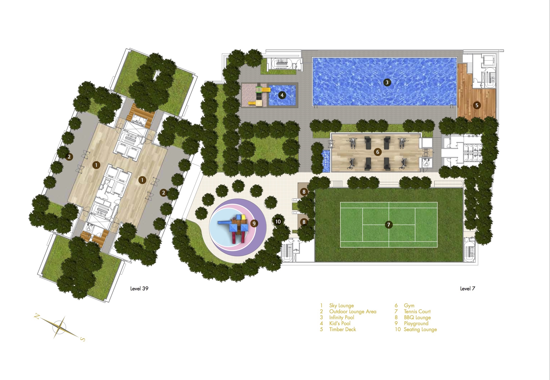 Site Plan of Reflection Residences