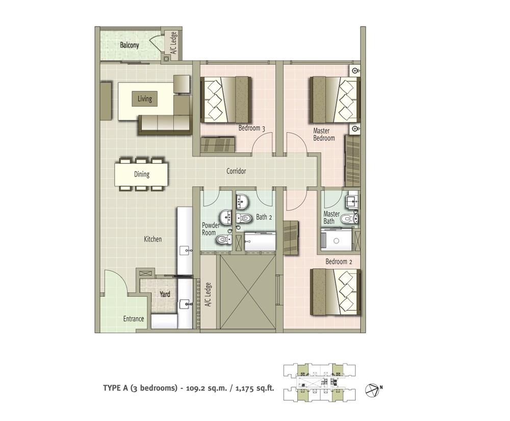 Glomac Centro Type A Floor Plan