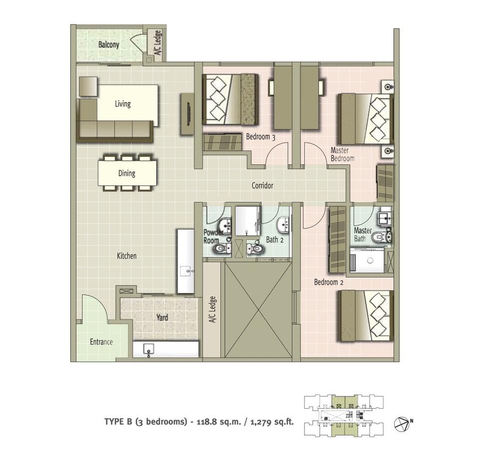 Glomac Centro Type B Floor Plan